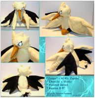 Zappa - Zapdos Plush by RadiantGlyph