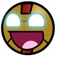 Iron Man Awesome Smiley by E-rap