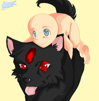 Giveing a piggyback -collab- by SuperSonic124TH