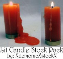 Lit Candle Stock Pack by XdemonicXstockX