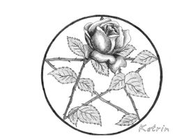 Pentacle Rose by Allcinna