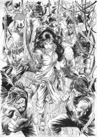 Devi chaudharani cover- Inks by Sumit92artist