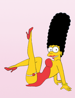 Marge Simpson as Betty Boop by paulibus2001