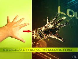 My Hand Vs. My Robotic hand by SubhadipKoley