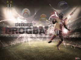 Didier Drogba Wallpaper and PSD by RuThLeSsGraphic