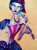 The Violinist II WIP by reminisense