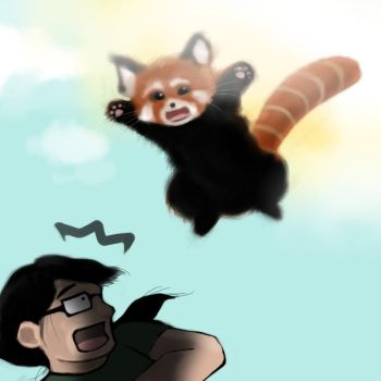 Red Panda Attack! by Lotusblade
