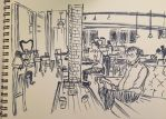 Coffee Shop Sketch by NeoSailorCrystal