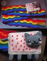 Nyan Cat Scarf 2 by Myrret