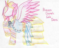 Princess Cosmo Gala Dress by MidnightTheUmbreon