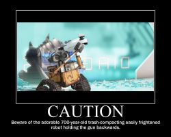 WALL-E Poster: Caution by goldenacorn93