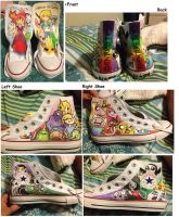 Adventure Time Shoes by Animorphs1