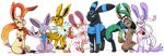 Poke-Commission Lunerian Group Picture. by Dragonfoxgirl