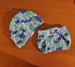 Baby Beanie and Diaper Cover Gift Set #2 by MannieRoss