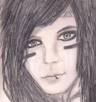 Andy Biersack Drawing  by loveroftheartsforvr