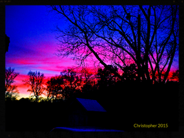 Sunset Colors of January version 2 in Studio Frame by HomeOfBluAndshadows