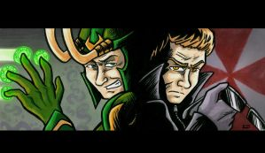 Loki and Wesker for Nupao by Raax-theIceWarrior