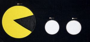 Pacman Embroidery Hoop by rainbowdreamfactory