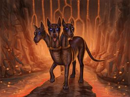 Cerberus from HOMM4 by A-De