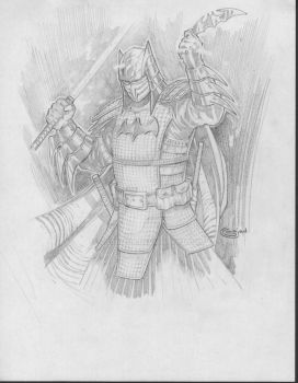 Samurai Batman Sketch by Sajad126