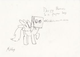 derpy hooves hoofdrawen sketch by MMu7