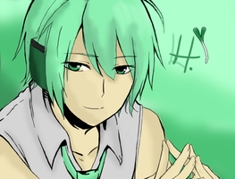 Hatsune Mikuo . Colored by LHatsu