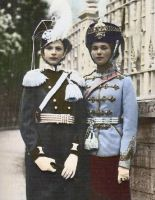 Olga and Tatiana in their Regiment outfits by PrincessJennii94