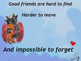 Friends Til' the End by Crystalthewhitewolf