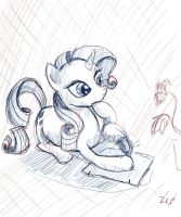 Rarity Sketch by LuezA-35