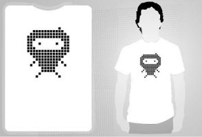NinjaVsSpace Invaders T-Shirt by reshad80
