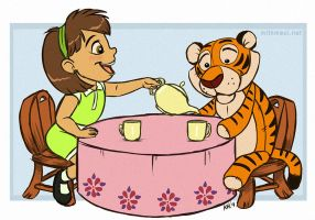 A Tiger Came to Tea by Greykitty