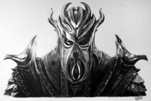 First Dragonborn Drawing - Skyrim Fan Art by LethalChris