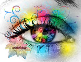 Kiss my colours Eye by iria