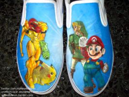 Super Smash Bros. slip-ons by CrimsonVip3r