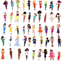 50 female character designs by CBrengan