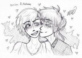 kiss on the cheek by MikiMonster