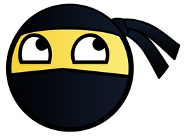 Ninja Awesome Smiley by E-rap