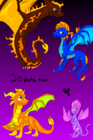 Adoptable Dragons ALL SOLD by Urnam-BOT