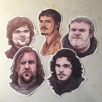 Game of Thrones Stickers and Magnets by McQuade