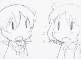 Yuko and Aioi, from Nichijou. by PatriciaMuacMuac