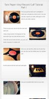 Torn Paper Vinyl Record Cuff Tutorial Part I by Plushbox