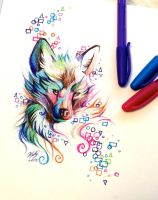 Fox Pen Design by Lucky978