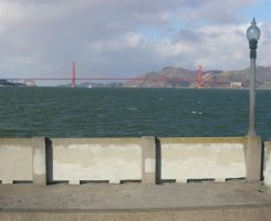 Goldengate Bridge from Hyde St Pier by mirengraphics