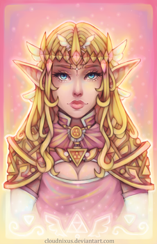 - Princess Zelda - by Cloudnixus