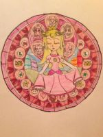 Peach's Stain Glass Window by Camilia-Chan