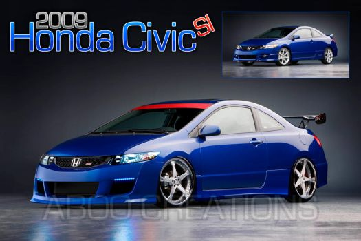 Honda Civic Si Coupe -09 - WIP by aboo-designs