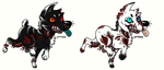 Zombie dog/wolf adopts by MostlyAdopts