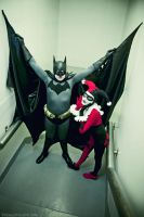 Batman and Harley by Larina-Satome