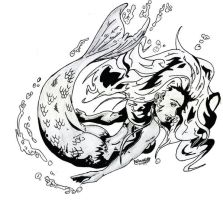 mermaid tattoo design by B-neoZEN
