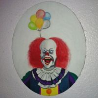 Pennywise with Balloons Painting by LobsterRapist